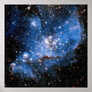 Estrellas infantiles de NGC 346 Póster