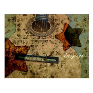 Estrellas inspiradas de la guitarra postal
