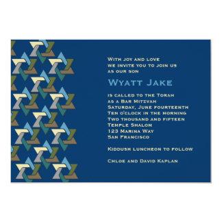 Estrellas judías de la invitación de Mitzvah de la