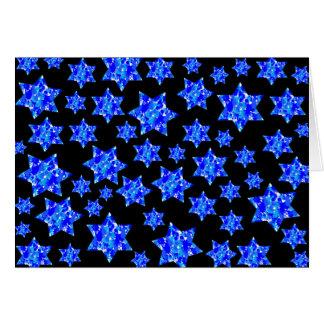 Estrellas judías de la salpicadura azul de la