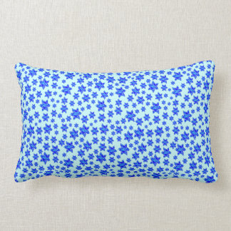 Estrellas judías de la salpicadura azul de la pint almohada