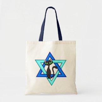 Estrellas judías del gato bolsa tela barata