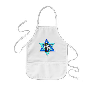 Estrellas judías del gato delantales