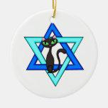 Estrellas judías del gato ornamentos de reyes