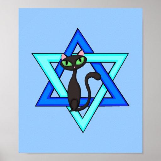 Estrellas judías del gato poster