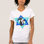 Estrellas judías del gato tee shirt