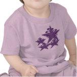 Estrellas K púrpura de los cráneos Camiseta