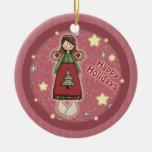 Estrellas lindas caprichosas del ángel del navidad ornamento para reyes magos