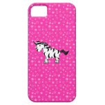 Estrellas lindas del rosa de la cebra iPhone 5 protectores