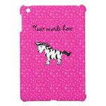 Estrellas lindas del rosa de la cebra iPad mini funda