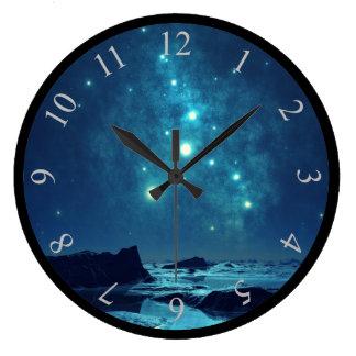 Estrellas luminosas reloj redondo grande