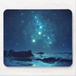 Estrellas luminosas tapetes de raton