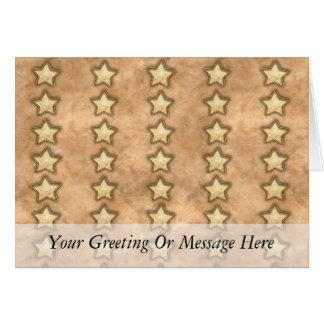 Estrellas martilladas del cobre tarjetón