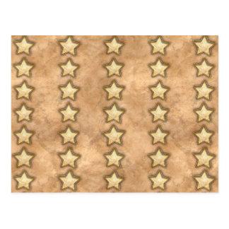 Estrellas martilladas del cobre postales