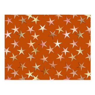 Estrellas metálicas oro pálido y sombras del cobr tarjetas postales