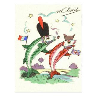 Estrellas militares británicas francesas de los tarjeta postal
