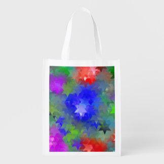estrellas multicolores Einkaufstasche Bolsas Para La Compra