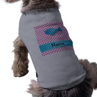 Estrellas narwhal azules conocidas personalizadas playera sin mangas para perro