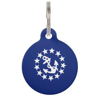Estrellas náuticas americanas del ancla de la band placas de mascota