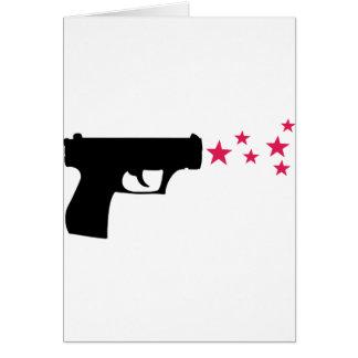 estrellas negras de la pistola de la estrella del  tarjeta de felicitación