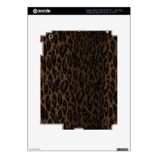 Estrellas negras del guepardo de Brown iPad 3 Pegatinas Skins