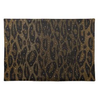 Estrellas negras del guepardo de Brown Mantel Individual