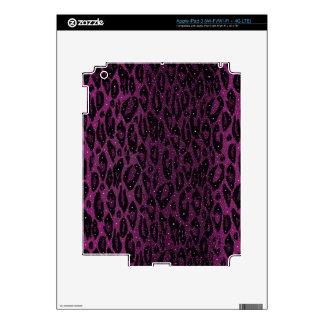 Estrellas negras rosadas del guepardo iPad 3 pegatinas skins