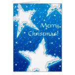 Estrellas Nevado - tarjeta de Navidad