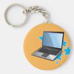 Estrellas, ordenador portátil llavero personalizado