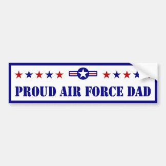 Estrellas orgullosas del papá de la fuerza aérea pegatina para auto