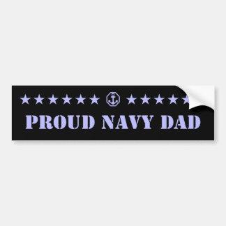 Estrellas orgullosas del papá de la marina de guer pegatina para auto