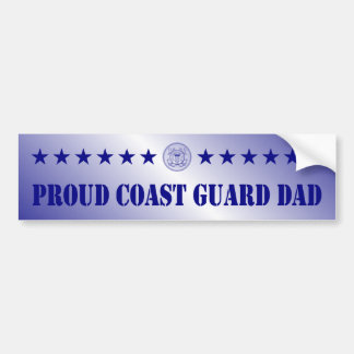 Estrellas orgullosas del papá del guardacostas pegatina para auto