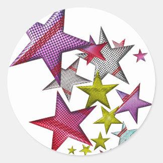¡Estrellas para su estrella! Etiquetas Redondas