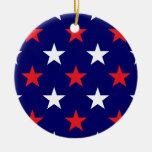Estrellas patrióticas 1 adornos de navidad