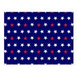 Estrellas patrióticas 2 tarjeta postal