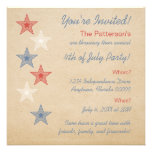 Estrellas patrióticas 4tas de la invitación de jul