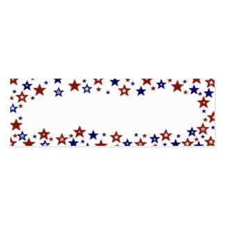 Estrellas patrióticas azules blancas rojas tarjetas de visita mini