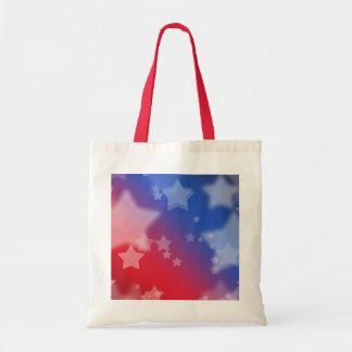 Estrellas patrióticas bolsa tela barata