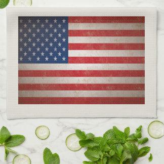 Estrellas patrióticas de la bandera americana 50 toalla