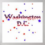 Estrellas patrióticas del Washington DC Poster