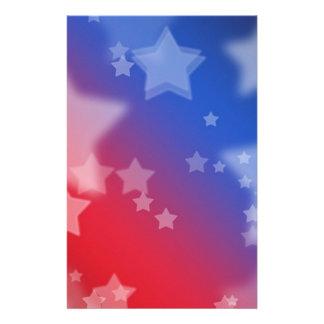 Estrellas patrióticas  papeleria de diseño