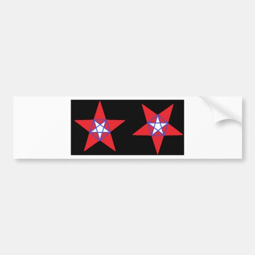Estrellas patrióticas pegatina de parachoque