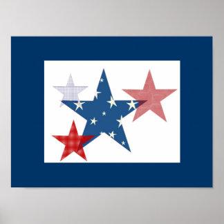 Estrellas patrióticas póster