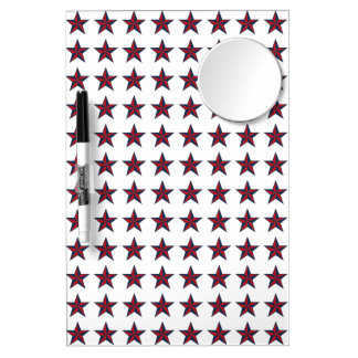 Estrellas patrióticas tridimensionales pizarra blanca