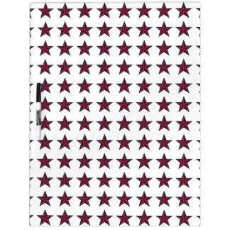 Estrellas patrióticas tridimensionales pizarras blancas