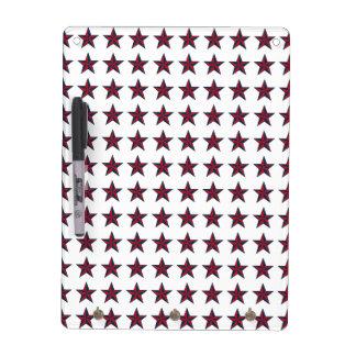 Estrellas patrióticas tridimensionales pizarras blancas de calidad