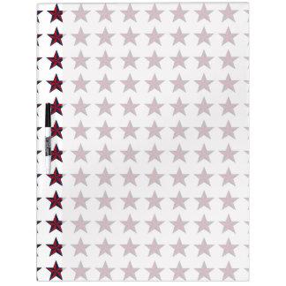 Estrellas patrióticas tridimensionales tablero blanco