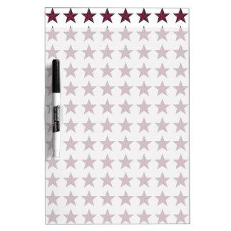Estrellas patrióticas tridimensionales tableros blancos