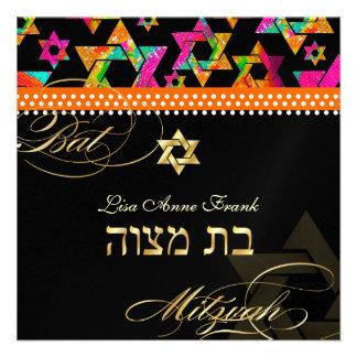 Estrellas psicodélicas de PixDezines, palo Mitzvah Comunicado