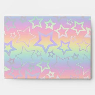 Estrellas psicodélicas del arco iris sobre